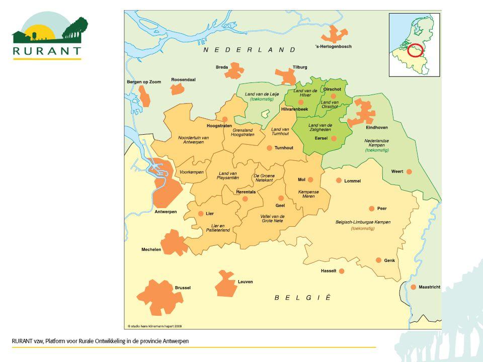 46 gemeenten 2231,9 km² (situatie 2004-2005) 827102 inwoners (situatie 1/1/07) Waar?