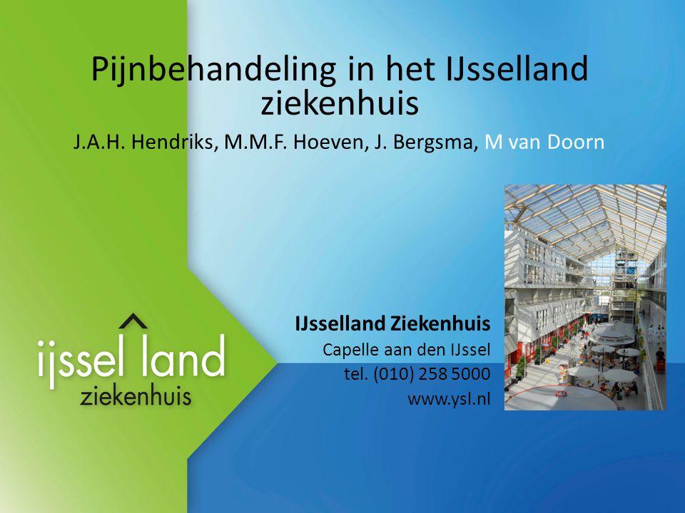 Pijnbehandeling in het IJsselland ziekenhuis J.A.H.