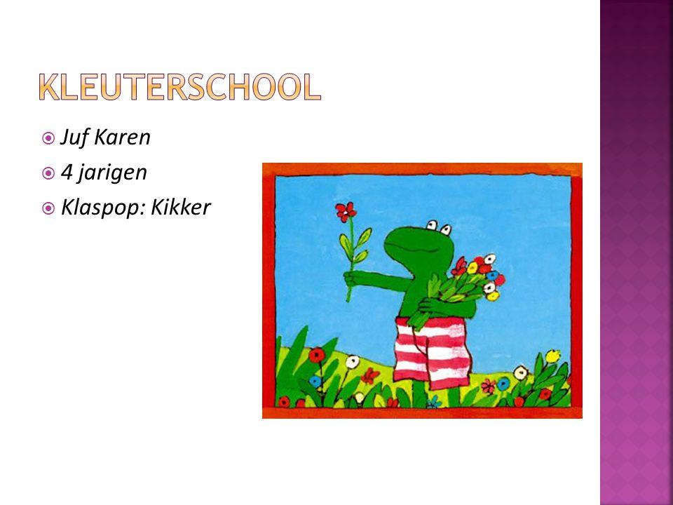  Juf Karen  4 jarigen  Klaspop: Kikker