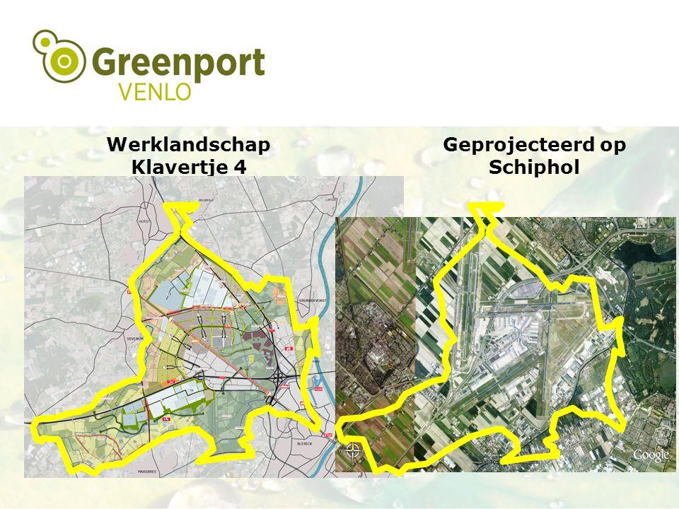 Gebiedsontwikkeling Werklandschap Klavertje 4 Geprojecteerd op Schiphol