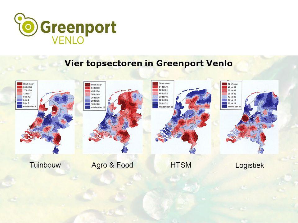 Vier topsectoren in Greenport Venlo TuinbouwAgro & FoodHTSM Logistiek