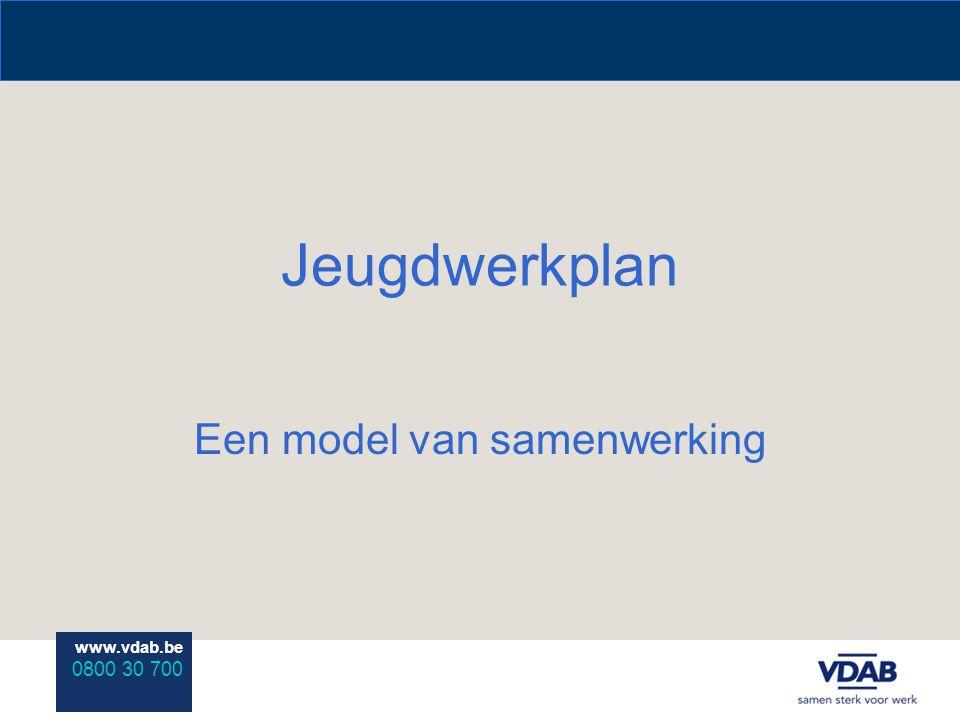 www.vdab.be 0800 30 700 Jeugdwerkplan Een model van samenwerking