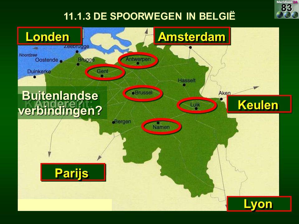 ParijsParijs AmsterdamAmsterdam KeulenKeulen LyonLyon LondenLonden Knooppunt:Andere? Buitenlandse verbindingen? 83