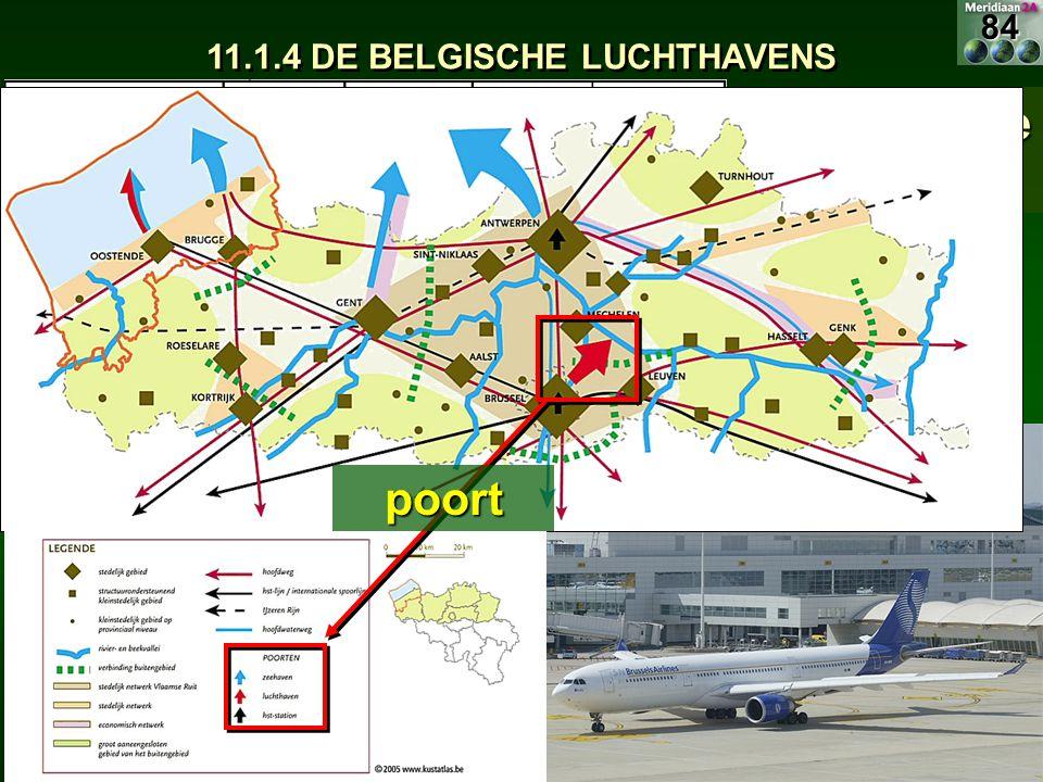 Belangrijkste luchthaven: Zaventem 11.1.4 DE BELGISCHE LUCHTHAVENS poort84