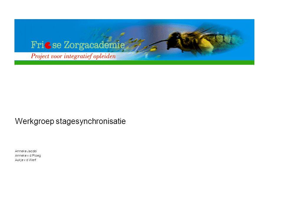 Werkgroep stagesynchronisatie Anneke Jacobi Anneke v d Ploeg Aukje v d Werf