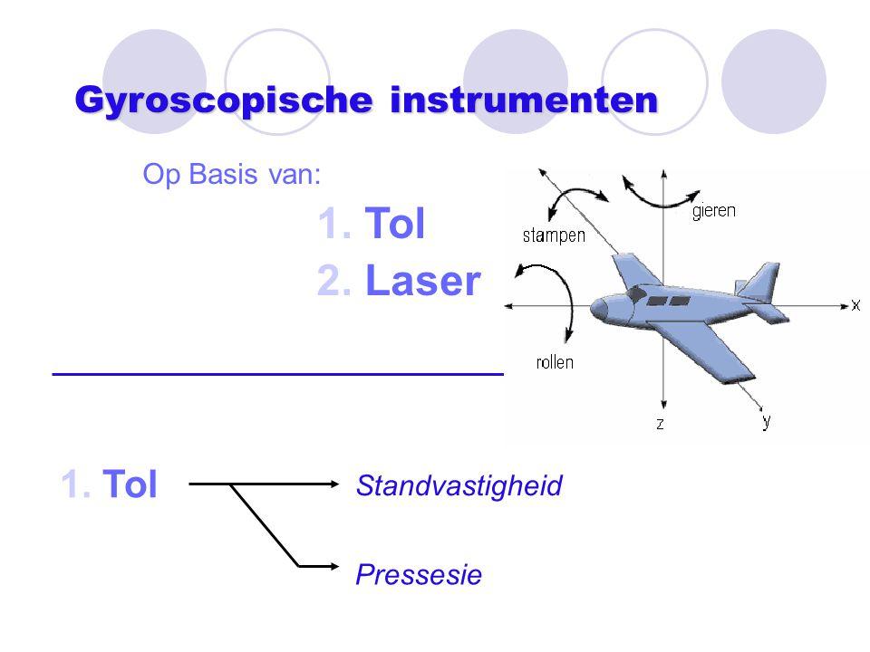 Gyroscopische instrumenten Op Basis van: 1. Tol 2. Laser 1. Tol Standvastigheid Pressesie