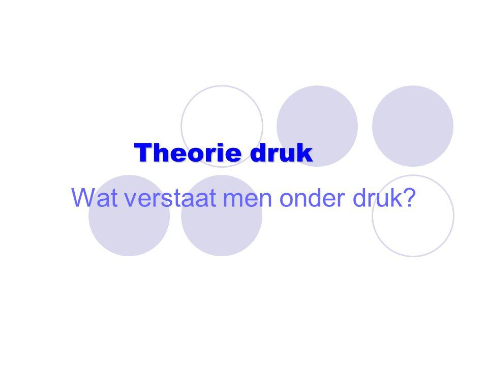 Theorie druk Wat verstaat men onder druk?