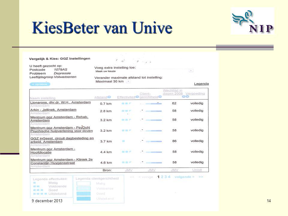 ROM - NIP14 KiesBeter van Unive 9 december 2013
