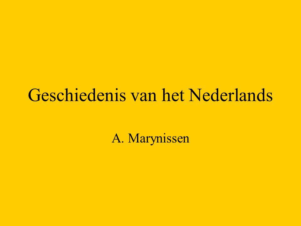 Geschiedenis van het Nederlands A. Marynissen