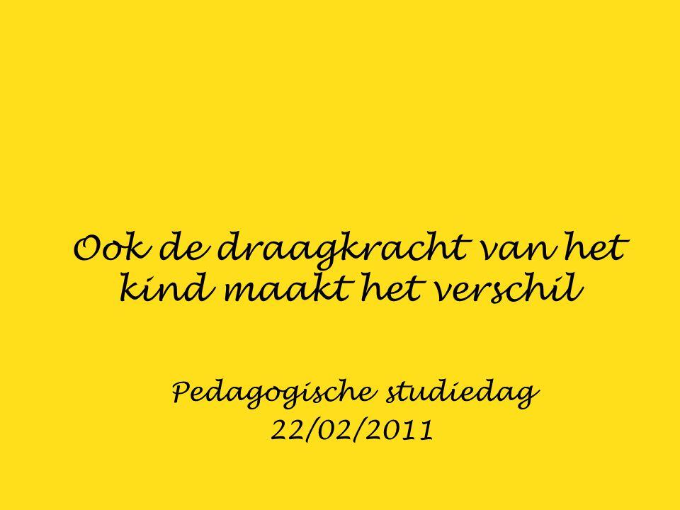 Ook de draagkracht van het kind maakt het verschil Pedagogische studiedag 22/02/2011