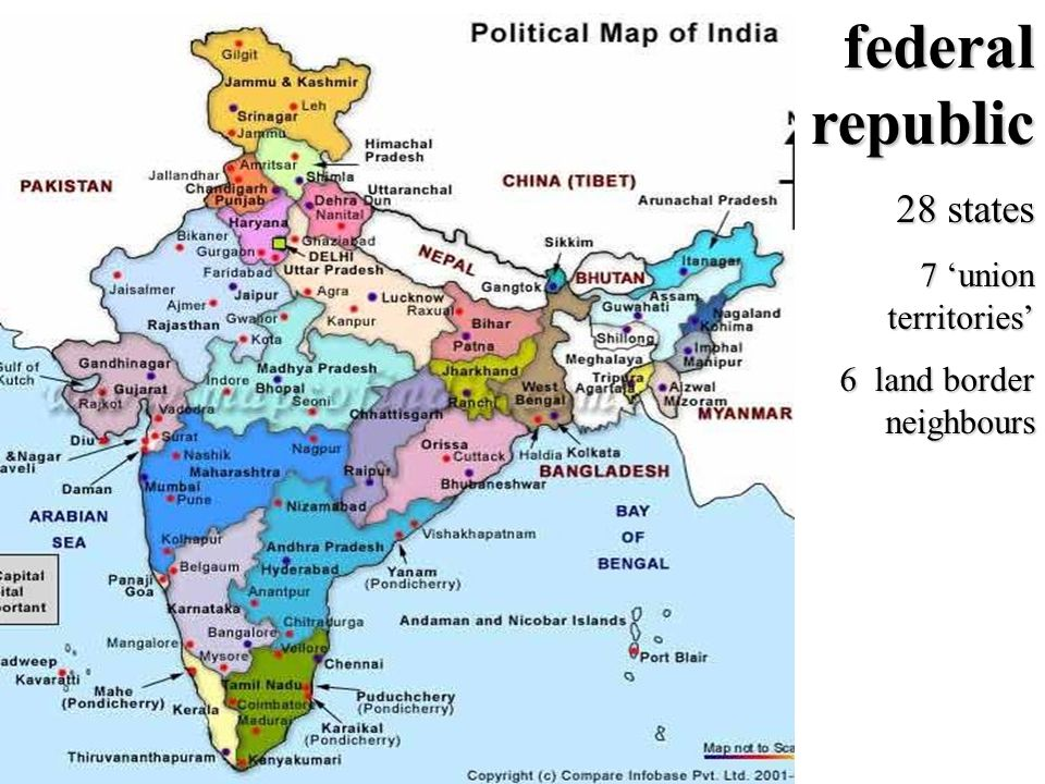 14 Indian National Congress Congress Party Rajiv Gandhi PM from 1984 – 1989 Assassinated 21 May 1991 Jawaharlal Nehru PM 1947 - 1964 Indira Gandhi PM from 1966 – 1977 And 1980 - 1984 Assassinated 31 Oct 1984 Sonia Gandhi Raul Gandhi Domestic Political Situation (2) Congress party en de Nehru-Gandhi familie