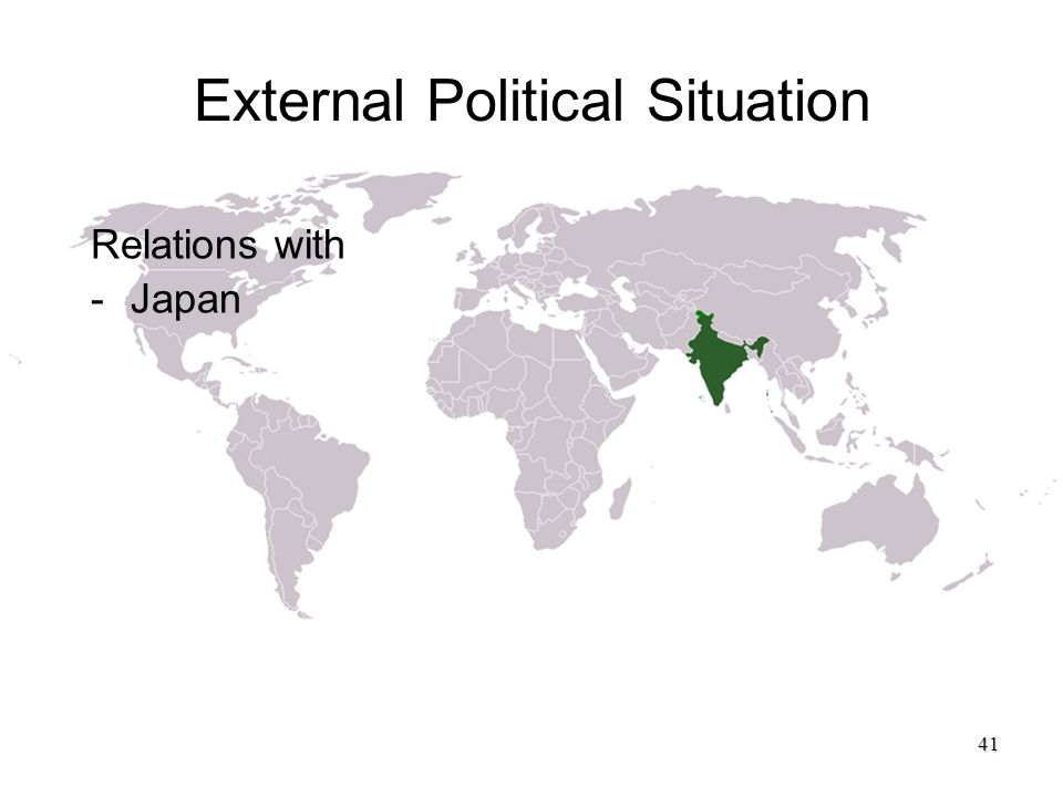 External Political Situation Relations with -Japan 41