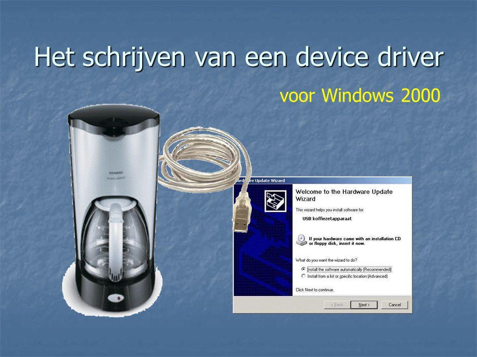 Het schrijven van een device driver voor Windows 2000
