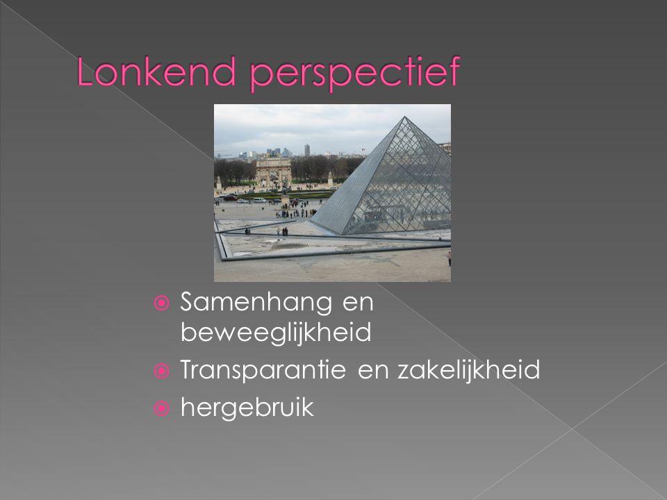  Samenhang en beweeglijkheid  Transparantie en zakelijkheid  hergebruik