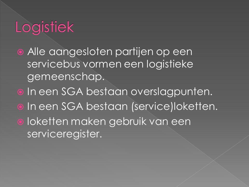  Alle aangesloten partijen op een servicebus vormen een logistieke gemeenschap.