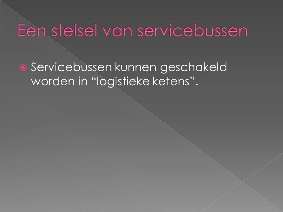  Servicebussen kunnen geschakeld worden in logistieke ketens .