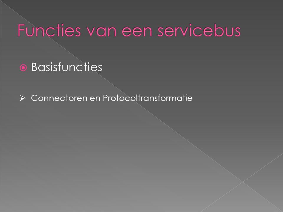  Basisfuncties  Connectoren en Protocoltransformatie