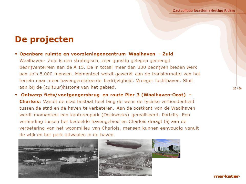 Gastcollege locatiemarketing R'dam 24 / 30 Positionering, de paraplu  Regio Rotterdam: Unieke Deltalocatie in Noord West Europa, Zuidvleugel Randstad