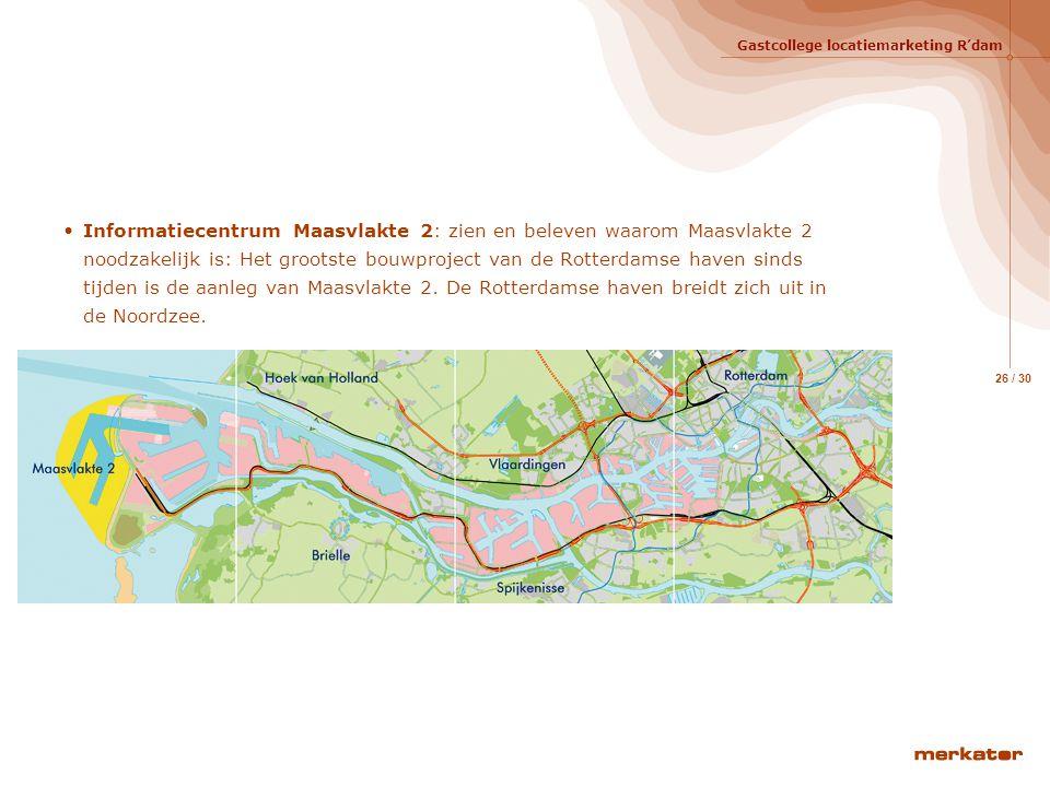 Gastcollege locatiemarketing R'dam 25 / 30 De projecten Openbare ruimte en voorzieningencentrum Waalhaven – Zuid Waalhaven- Zuid is een strategisch, z