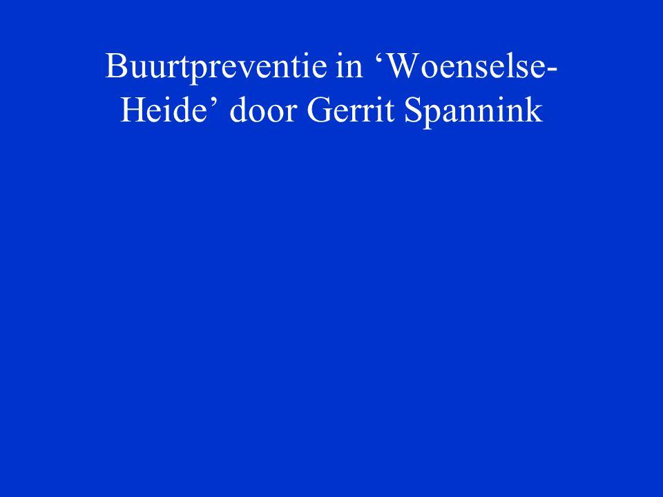 Buurtpreventie in 'Woenselse- Heide' door Gerrit Spannink