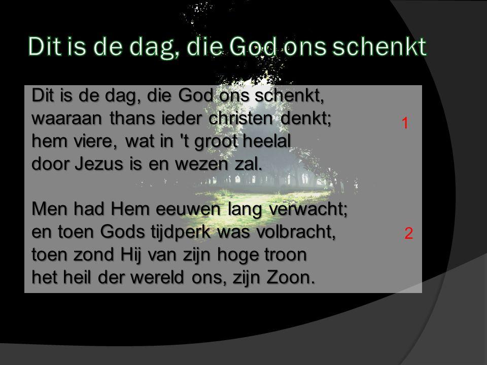 O Gij ons heil, ons hoogste goed, Gij werd een mens van vlees en bloed, werd onze broeder, en door U zijn wij Gods eigen kind ren nu.