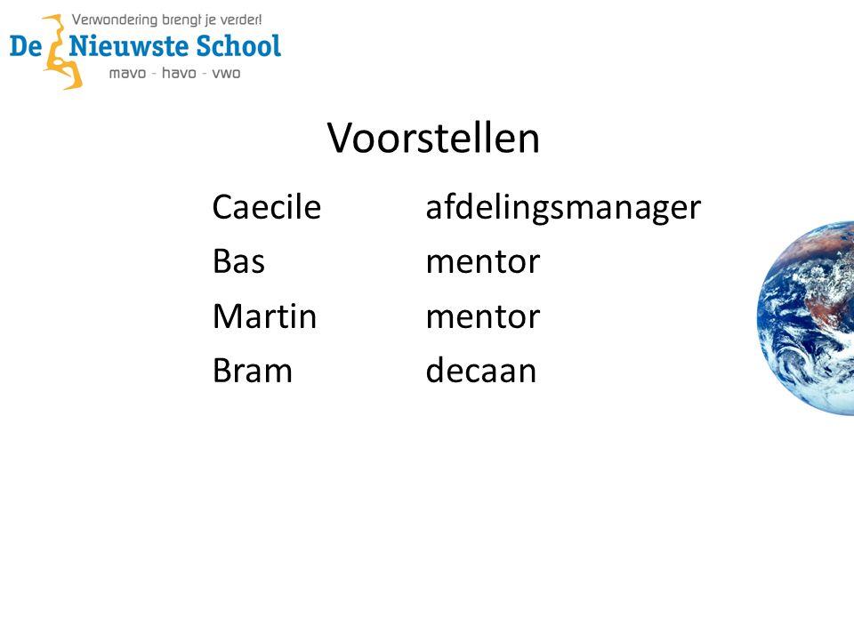 Voorstellen Caecileafdelingsmanager Basmentor Martinmentor Bramdecaan