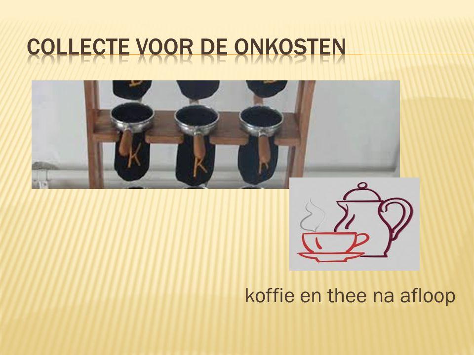 koffie en thee na afloop