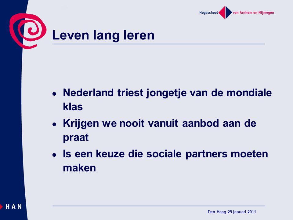 Leven lang leren Nederland triest jongetje van de mondiale klas Krijgen we nooit vanuit aanbod aan de praat Is een keuze die sociale partners moeten m