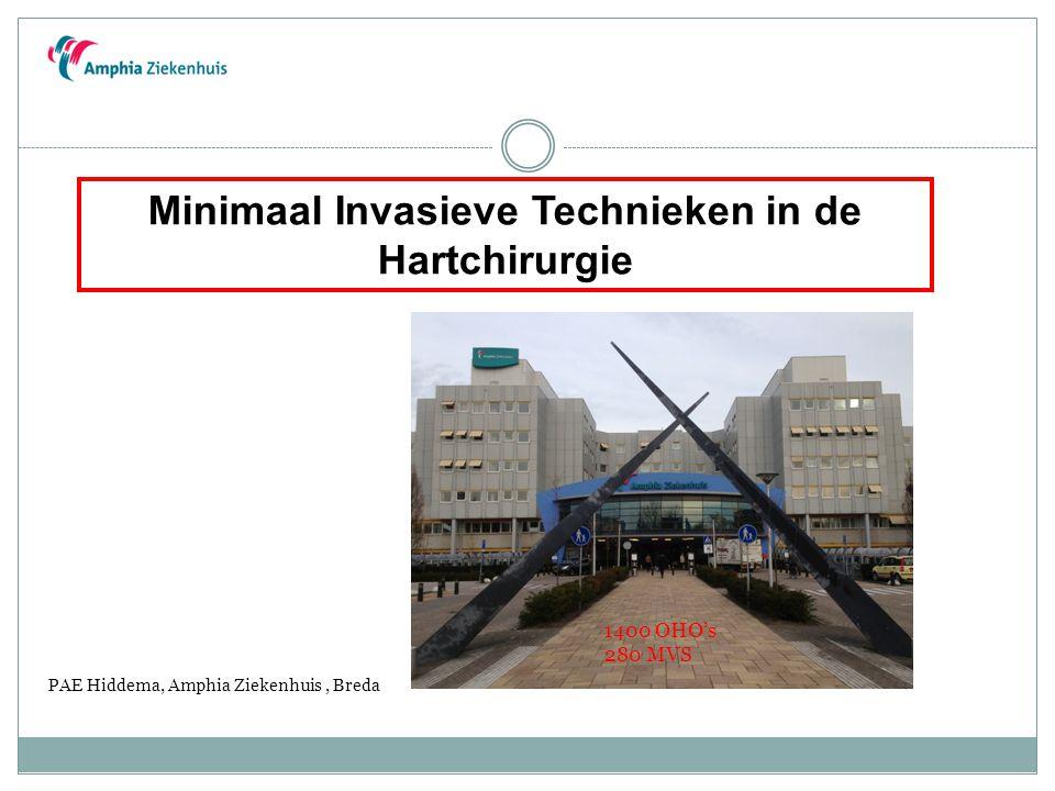 Minimaal Invasieve Technieken in de Hartchirurgie PAE Hiddema, Amphia Ziekenhuis, Breda 1400 OHO's 280 MVS