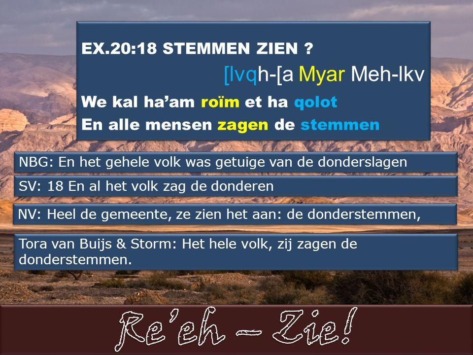 EX.20:18 STEMMEN ZIEN .