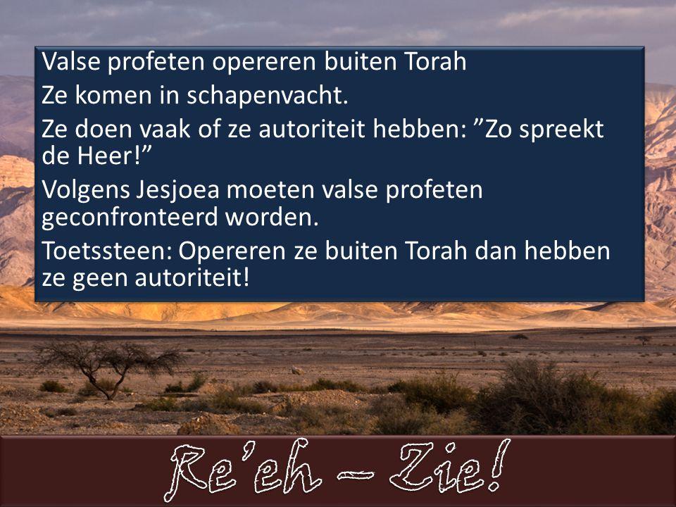Valse profeten opereren buiten Torah Ze komen in schapenvacht.
