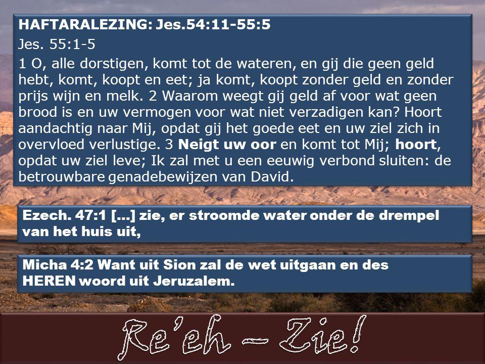 HAFTARALEZING: Jes.54:11-55:5 Jes.