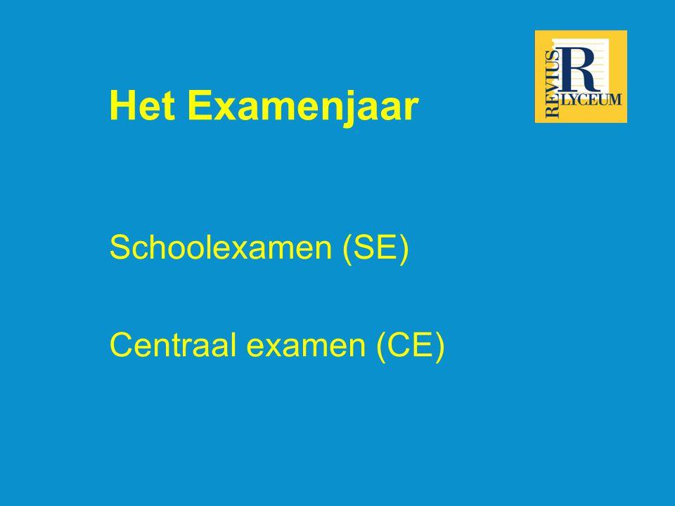 Het Examenjaar Schoolexamen (SE) Centraal examen (CE)