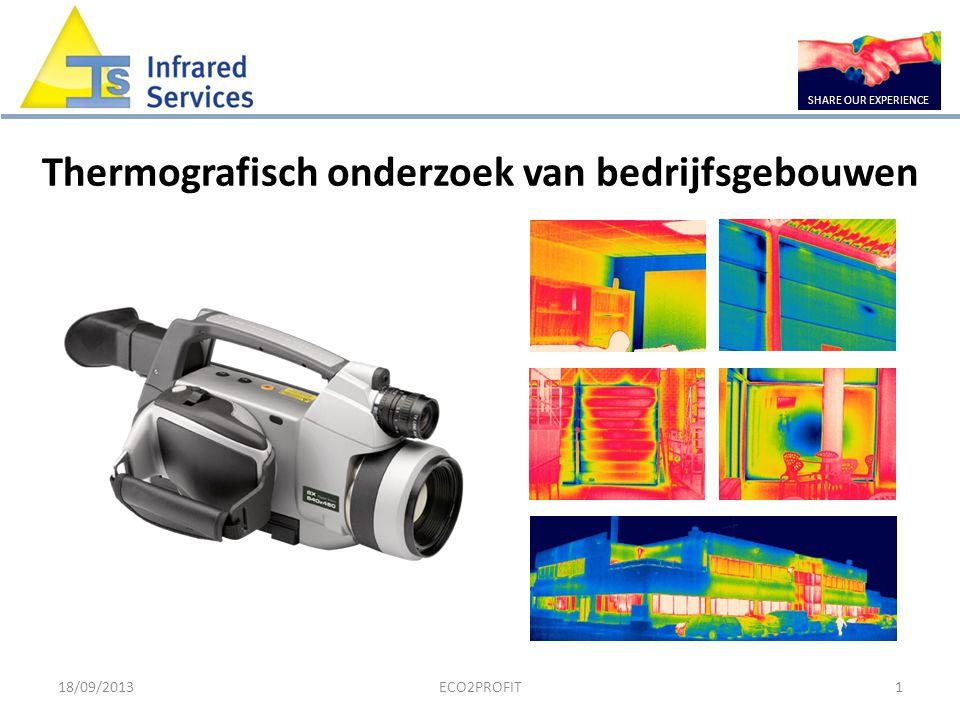 18/09/2013ECO2PROFIT1 Thermografisch onderzoek van bedrijfsgebouwen SHARE OUR EXPERIENCE