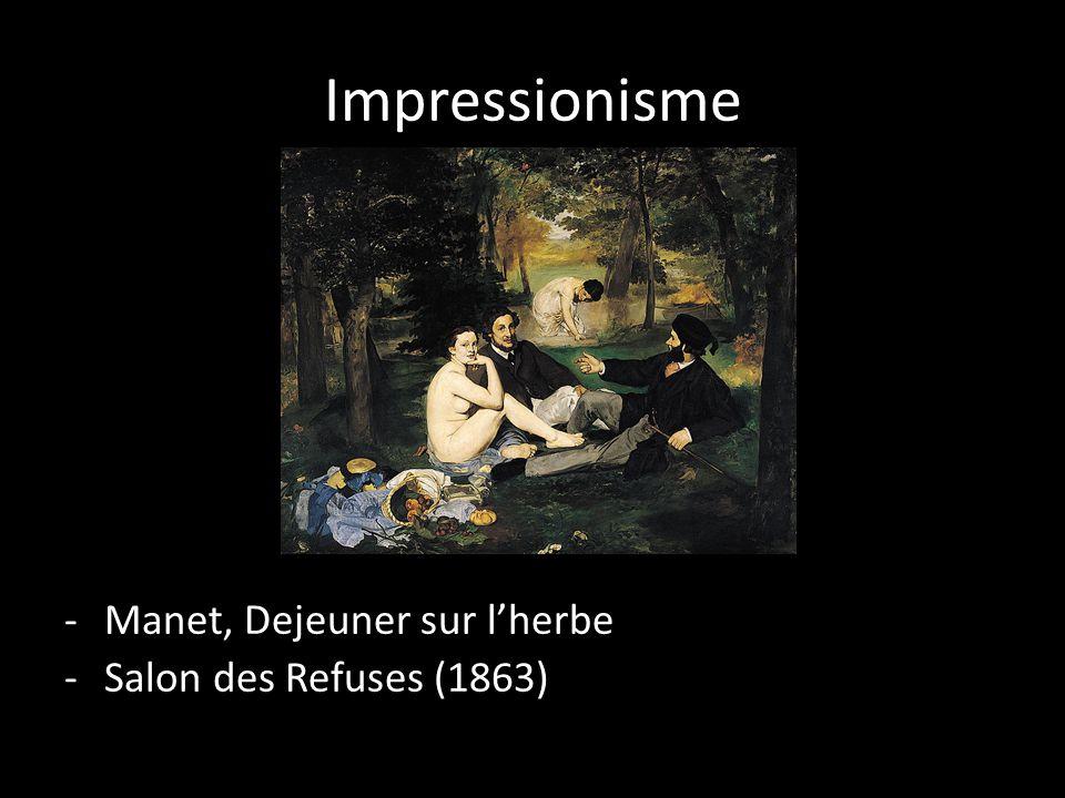 Impressionisme -Manet, Dejeuner sur l'herbe -Salon des Refuses (1863)