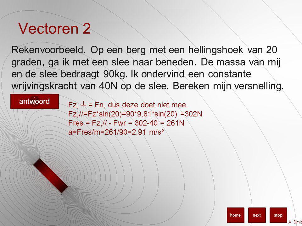 Vectoren 2 Rekenvoorbeeld.