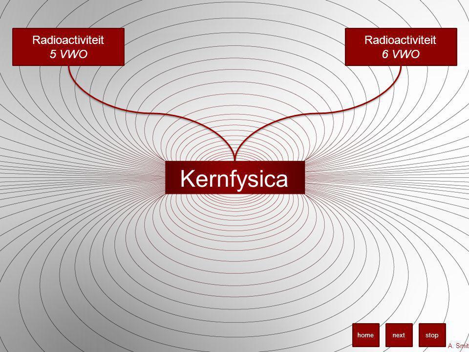 Kernfysica A. Smit stopnexthome Radioactiviteit 5 VWO Radioactiviteit 6 VWO