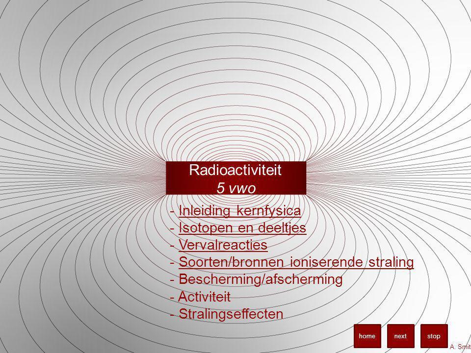 Radioactiviteit 5 vwo A.