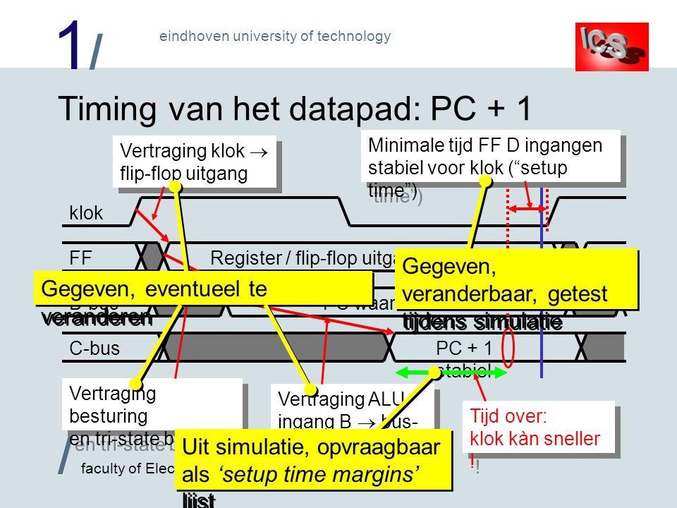 1/1/ / faculty of Electrical Engineering eindhoven university of technology 'Abstracte' timing Timing vastgelegd in idass.tec bestand –Met constanten en formules: niets aan veranderen .