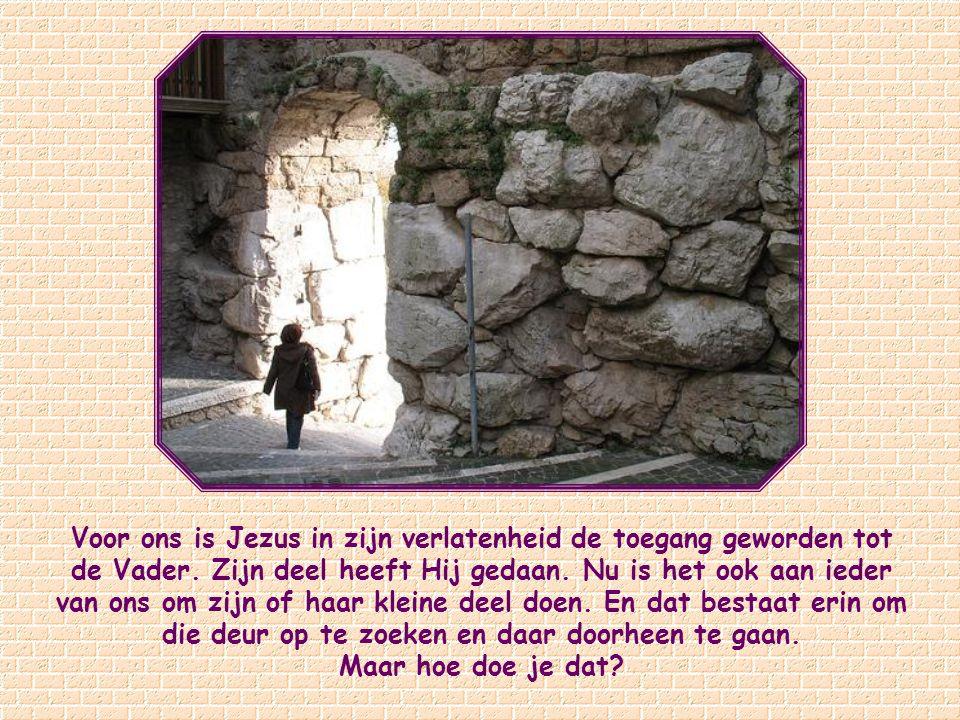 Ik ben de deur: wanneer iemand door Mij binnenkomt zal hij gered worden; hij zal in en uit lopen,en hij zal weidegrond vinden. Johannes 10,9.