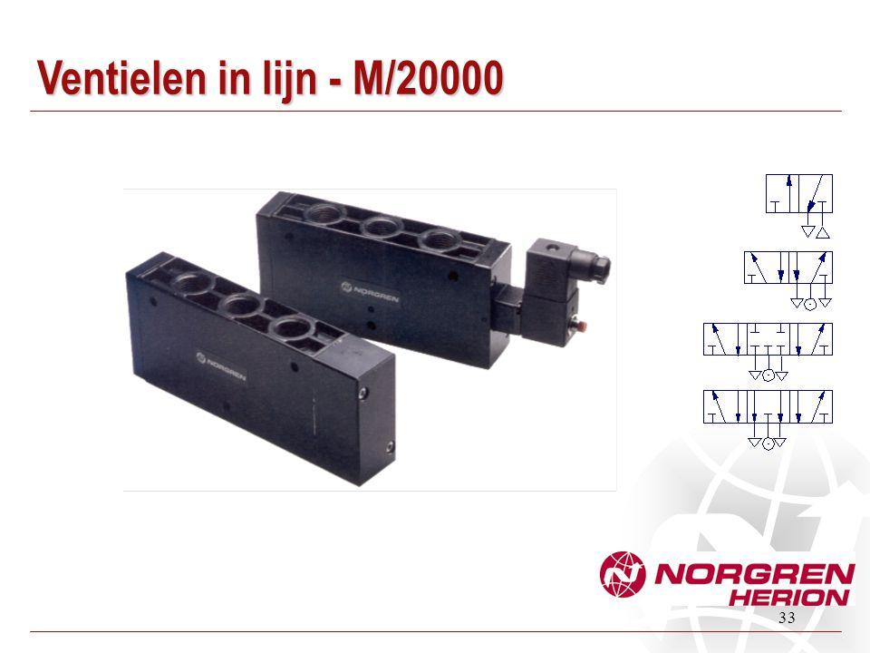 33 Ventielen in lijn - M/20000