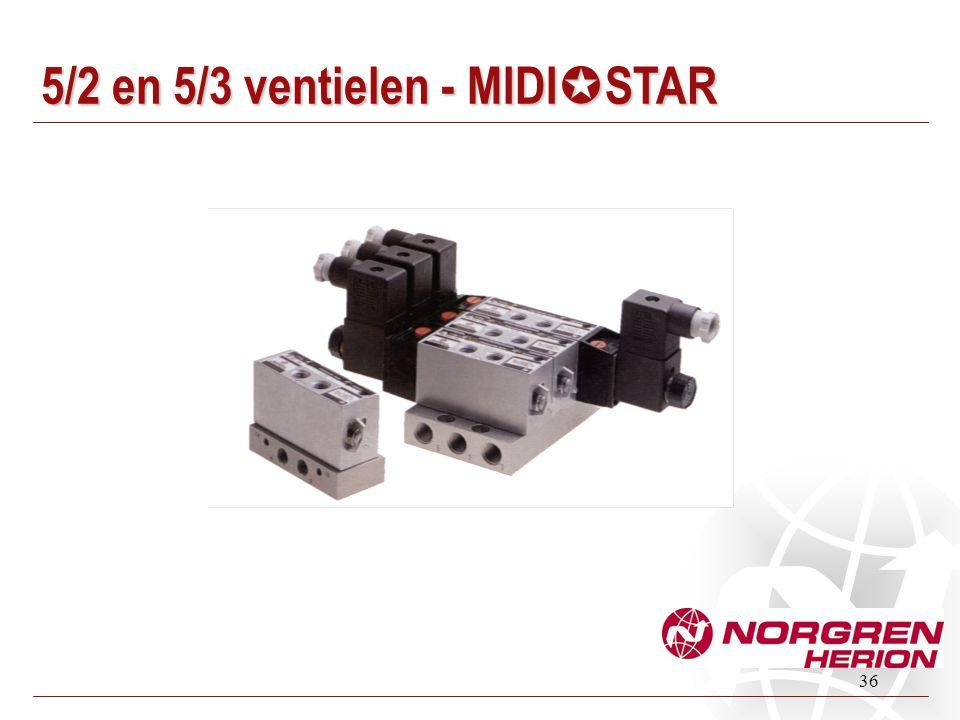 36 5/2 en 5/3 ventielen - MIDI  STAR