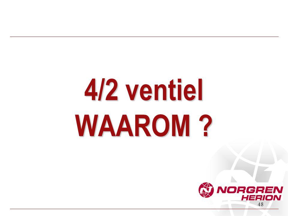 48 4/2 ventiel WAAROM ?