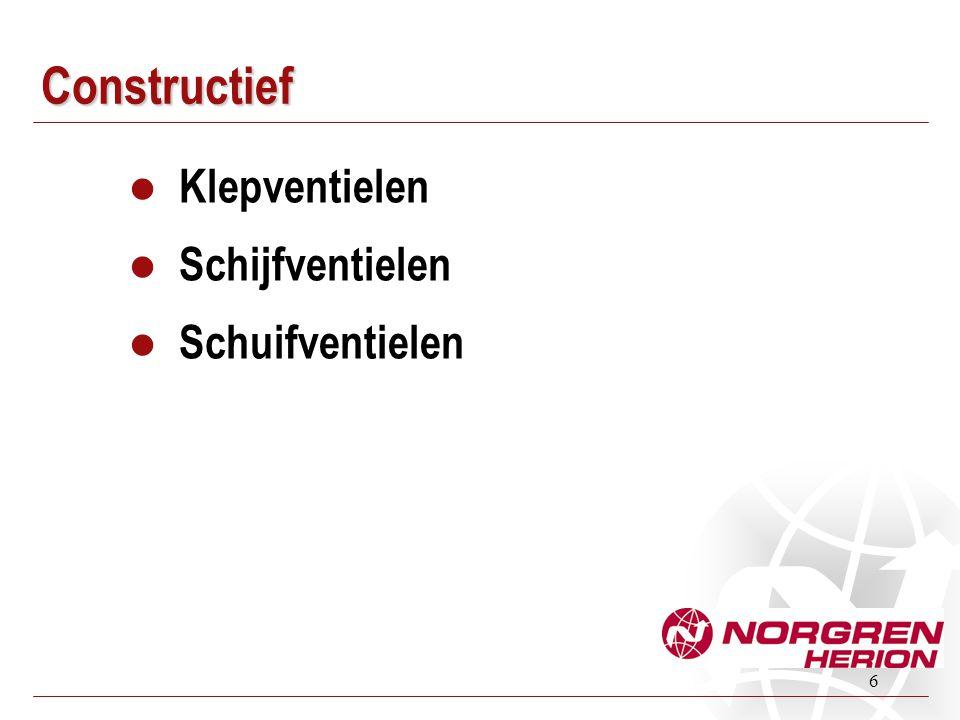 6 Constructief Klepventielen Schijfventielen Schuifventielen