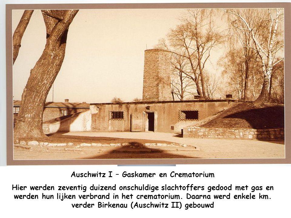 Auschwitz I – Draagbare Galg in de gang van Blok 11. Men heeft dergelijke galgen gebruikt voor het uitvoeren van de doodstraf op de gevangen in het Ka