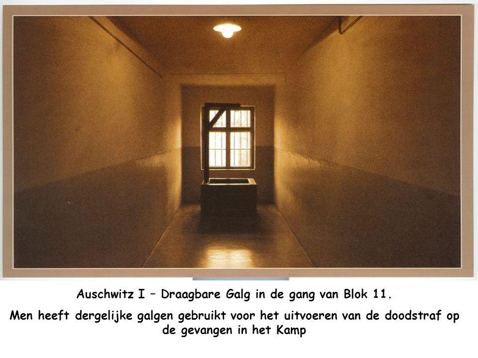 Ausschwitz I - Benedenverdieping blok nummer 11 Werd gebruikt door de Gestapo van het kamp en diende als gevangenis voor deze die meehielpen aan het o