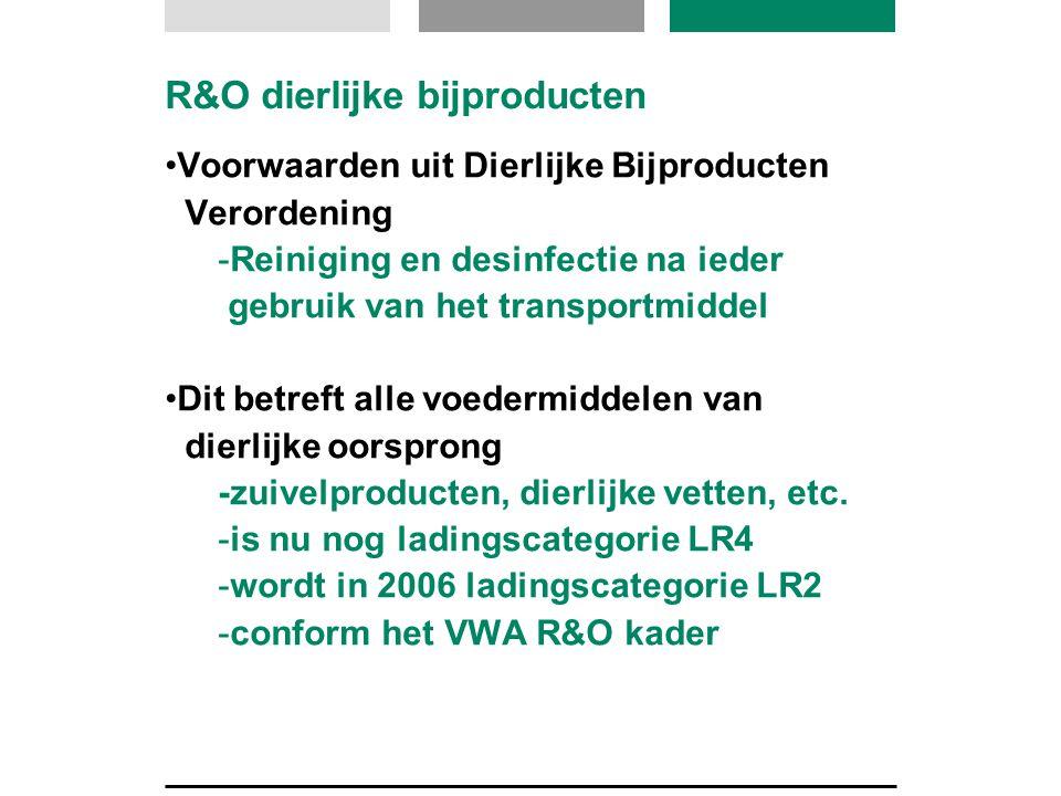 R&O dierlijke bijproducten Voorwaarden uit Dierlijke Bijproducten Verordening -Reiniging en desinfectie na ieder gebruik van het transportmiddel Dit b