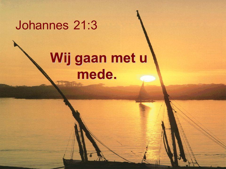 Wij gaan met u mede. Johannes 21:3 Wij gaan met u mede.
