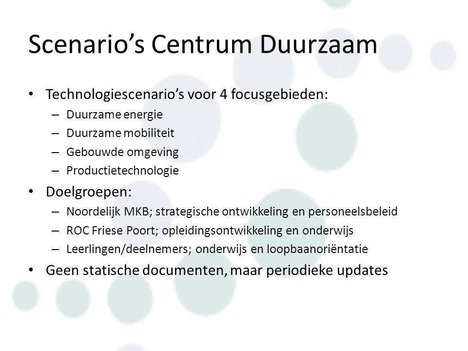 Exploratieve scenario's Instrument om na te denken over de toekomst in geval van snelle, onvoorspelbare ontwikkeling Opgebouwd o.b.v.