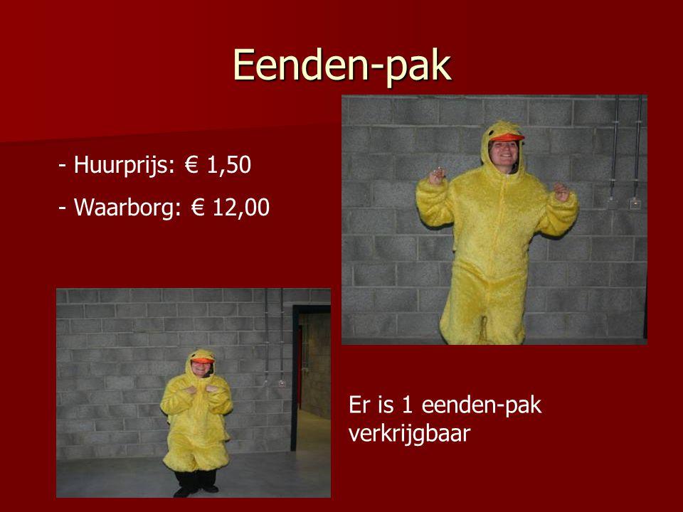 Eenden-pak - Huurprijs: € 1,50 - Waarborg: € 12,00 Er is 1 eenden-pak verkrijgbaar